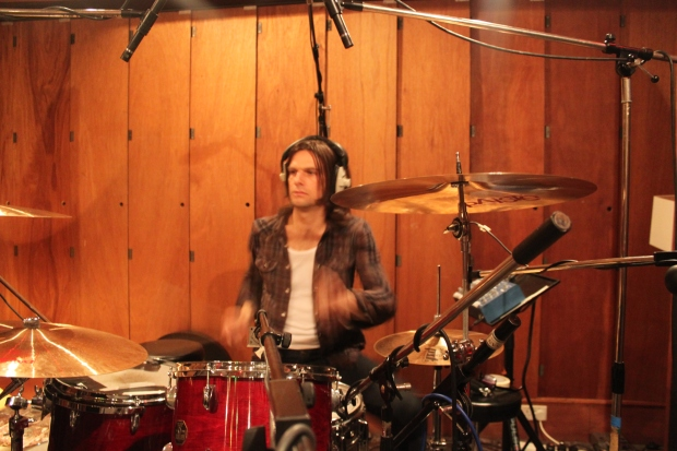 At Rockfield, Quadrangle Studio, Oct'13. (photo: Nick Brine)