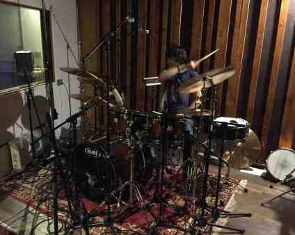 Phil Martini tracking drums for Wayward Sons at Vale Studios