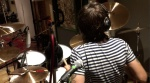 "Joe Elliott's Down N Outz Drummer Phil Martini recording new tracks for LP #3, at The Premises Studios, 2017. Mapex Orion Drums, Paiste Cymbals 2002/Dark Energy/Masters, Vic Firth Drumsticks, Aquarian Cymbals, Ludwig Maple 8"" Snare Drum, Rock 'n' Roll Drummer, Studio Drummer, recorded by Keith More"
