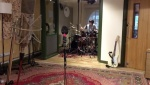 """Joe Elliott's Down N Outz Drummer Phil Martini recording new tracks for LP #3, at The Premises Studios, 2017. Mapex Orion Drums, Paiste Cymbals 2002/Dark Energy/Masters, Vic Firth Drumsticks, Aquarian Cymbals, Ludwig Maple 8"""" Snare Drum, Rock 'n' Roll Drummer, Studio Drummer, recorded by Keith More"""