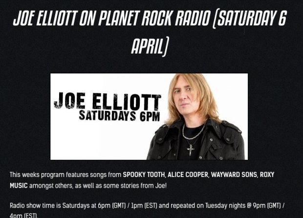 "Joe Elliott, Planet Rock Radio, Wayward Sons, Toby Jepson, Phil Martini, I Don't Wanna Go, Picture Disc EP, debut Headline UK Tour, Ghosts Of Yet To Come, debut LP, Joe Elliott's Down N Outz, Def Leppard, British Rock n Roll, Frontiers Music, X-Ray Touring, Live Nation, Paiste 2002 Cymbals, Vic Firth 3A Drumsticks, Aquarian Response 2 Drumheads, Mapex Orion Drum kit, Ludwig Classic Maple 8"" Snare Drum, Studio Drummer, Live Drummer, Sam Wood, Nic Wastell, Dave Kemp, Spear Of Destiny, Roxy Music, Cheap Trick"