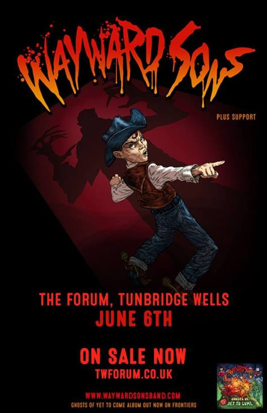 Wayward Sons, GhostsOf Yet To Come, Download Festival 2018, Tunbridge Wells The Forum, warm-up show, X-Ray Touring, Frontiers Music, Toby Jepson, Phil Martini, I Don't Wanna Go EP, 12