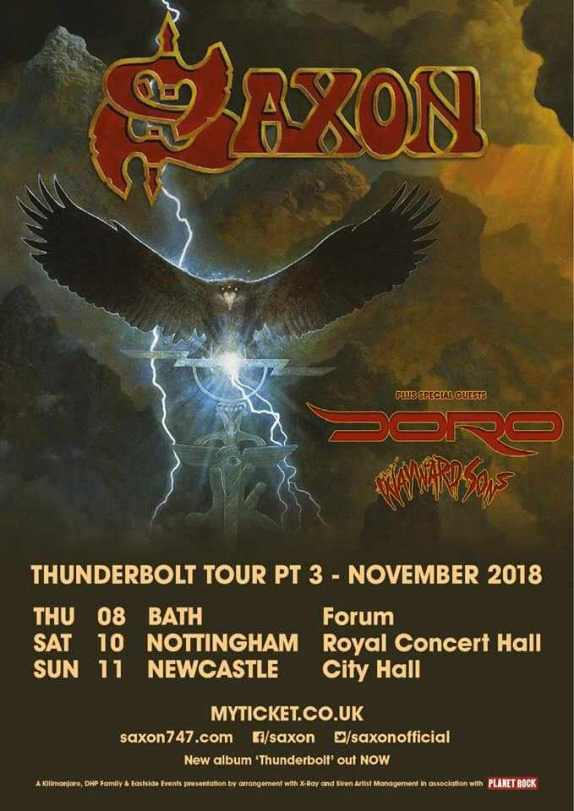 Wayward Sons, support Saxon Official, UK Tour 2018, Ghosts Of Yet To Come, Winter Tour 2018, Phil Martini, Toby jepson, Biff Byford, Nigel Glockler, Ludwig Vistalite, Paiste 2002, Vic Firth 3A, Code Drumheads, Ludwig Black Beauty